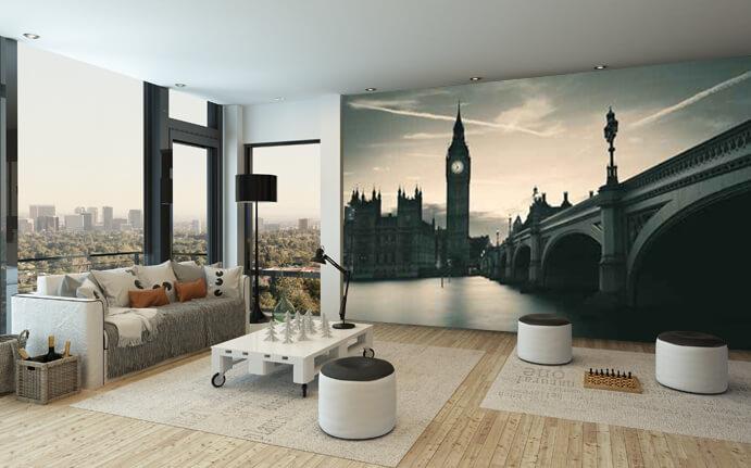 Le papier peint personnalis une d co murale design for Decoration murale papier