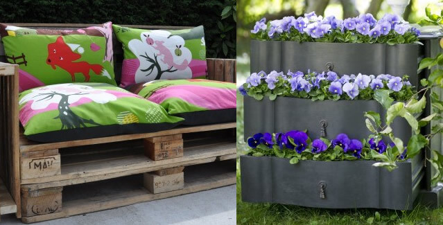 deco recup pour jardin. Black Bedroom Furniture Sets. Home Design Ideas