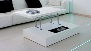 comment fabriquer sa propre table basse relevable. Black Bedroom Furniture Sets. Home Design Ideas