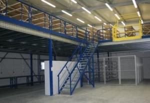 mezzanine de stockage