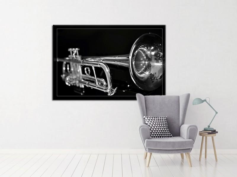 tableau-noir-et-blanc-trompette