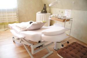 Installez une table de massage